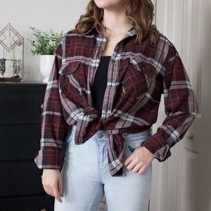 Large gap plaid shirt